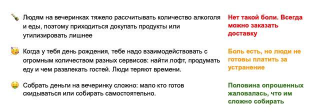 vc.ru / Первые гипотезы, которые мы проверяли