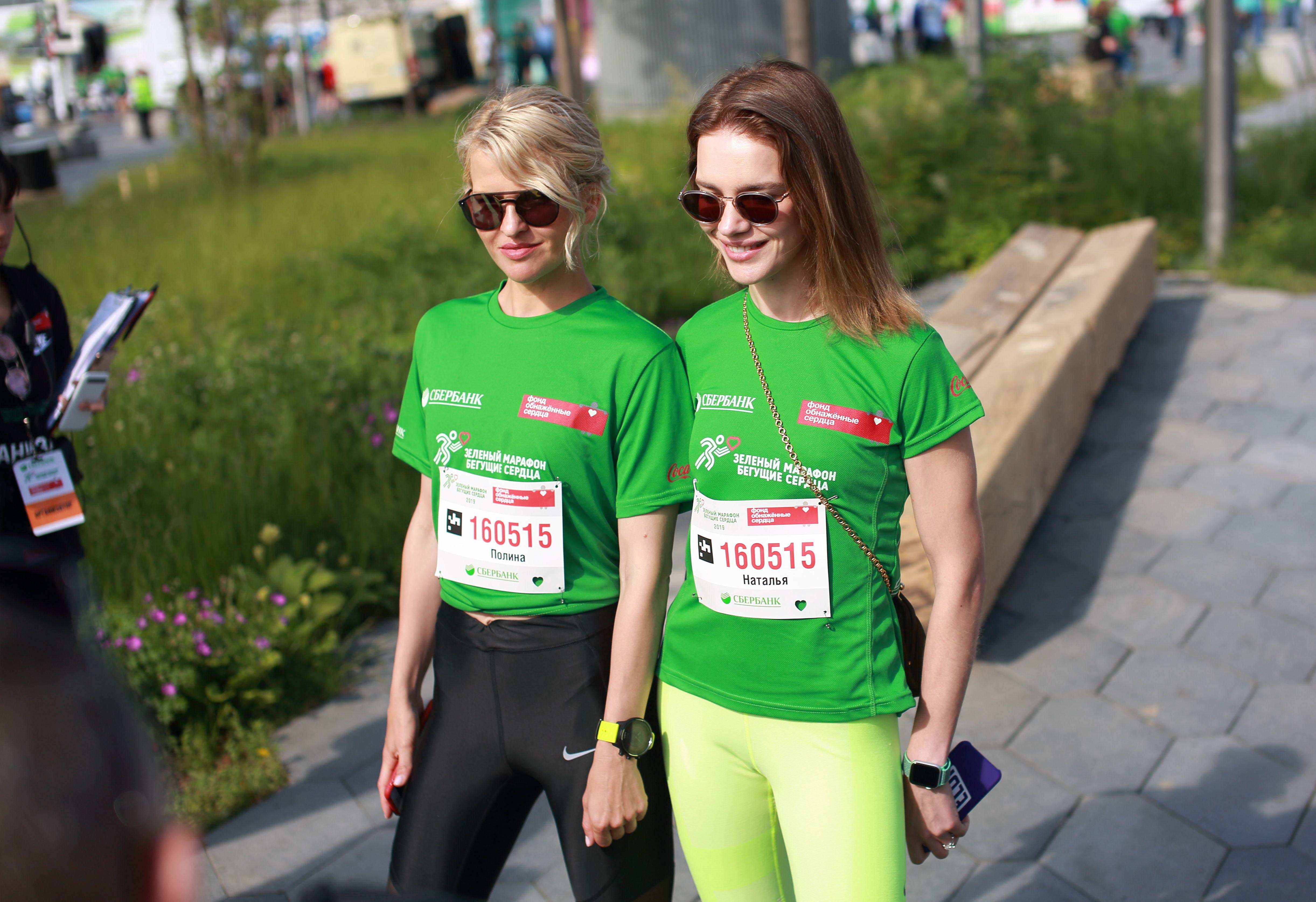 Наталья Водянова и Полина Киценко на марафоне «Бегущие сердца». Фото из архива героини.