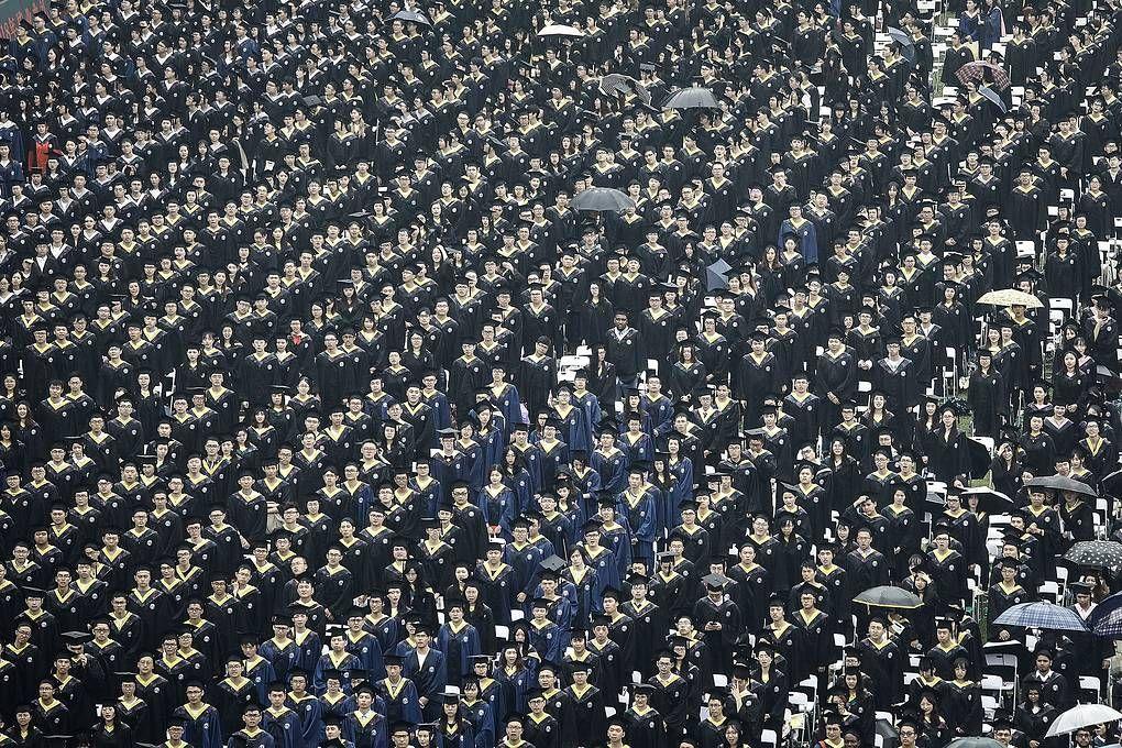 Выпускники Уханьского университета. Wang He, Getty Images